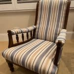 Upholstered Traditional Low Chair