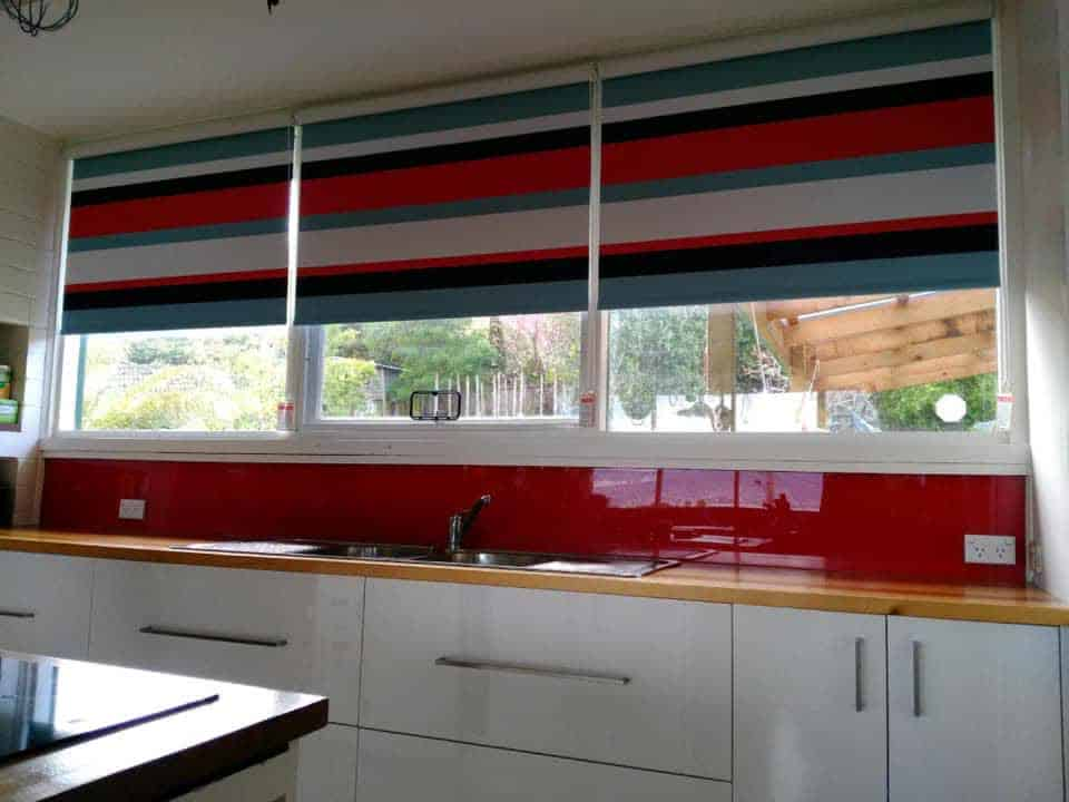 Blockout Roller blinds pattern matched in Louvolite Havana fabric